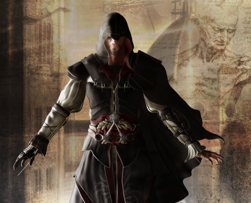 Ezio 3D render